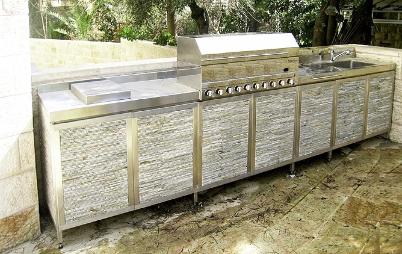 מטבח חוץ - סגנון אבן ירושלמית